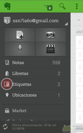 last app switcher en aplicacion