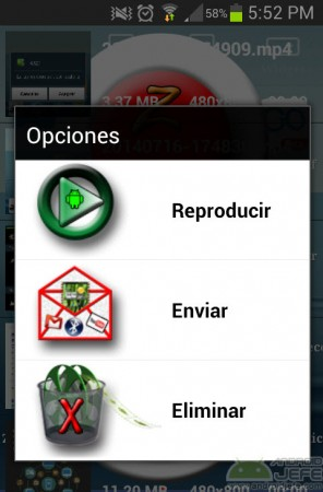 opciones de video z-screenrecorder
