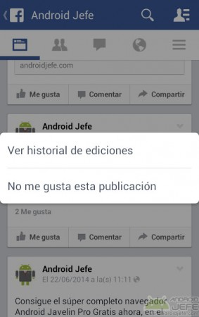 publicacion sin guardar facebook