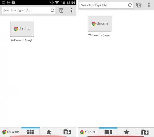 Ocultar barra superior en Android