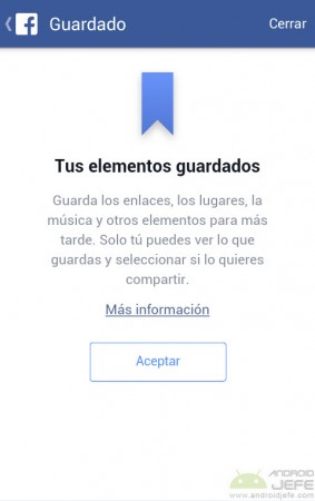 tus elementos guardados facebook