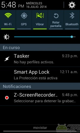 z-screenrecorder notificacion