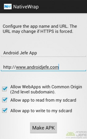 NativeWrap android jefe app