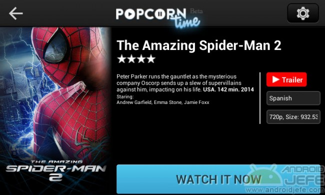 amazing spiderman 2 popcorn time