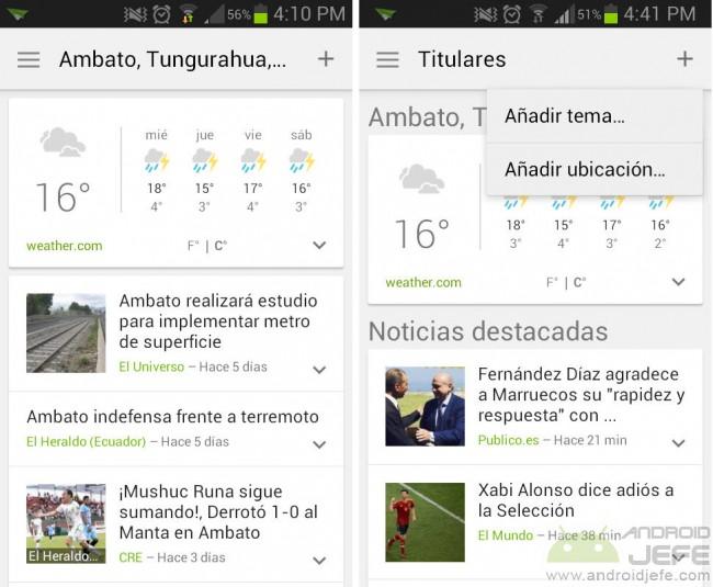 google noticias 2.0 aplicacion android