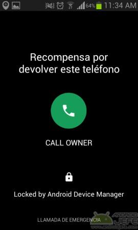 llamar dueño de telefono perdido