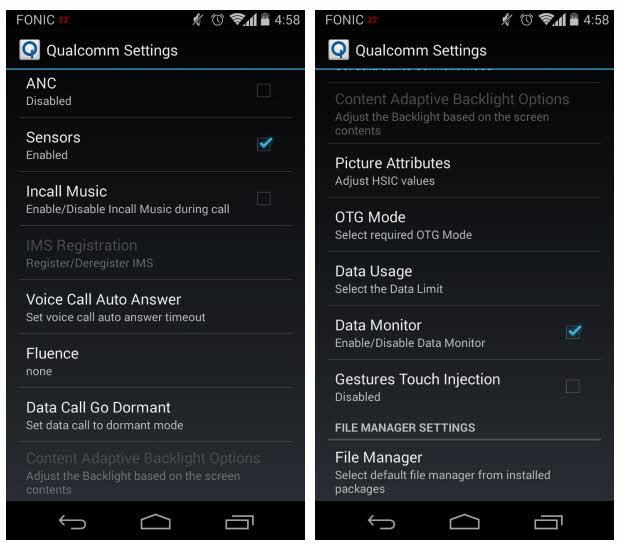 Menú oculto con ajustes avanzados, disponible en Motorola Moto G, Moto E y Moto X