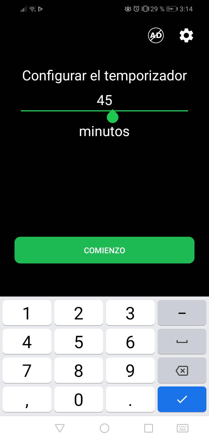 tiempo antes de detener la música en el celular app