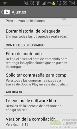controles de usuario control parental play store