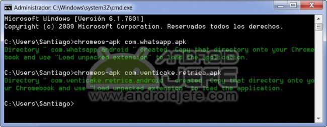 Generación exitosa de los APK modificados de aplicaciones WhatsApp y Retrica