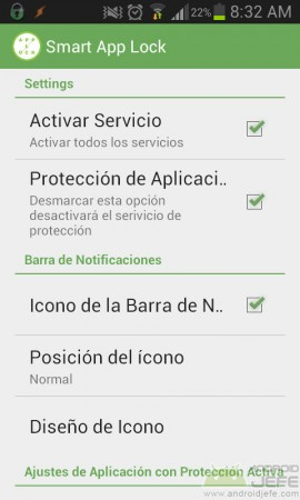desactivar notificacion persisten smart app protector