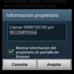 Cómo poner la información del propietario en la pantalla de mi teléfono Android