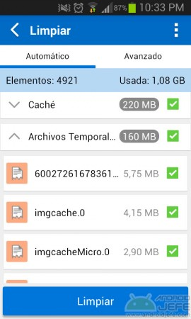 limpiar android all in one toolbox