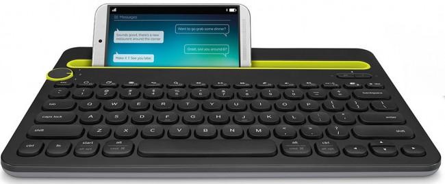teclado logitech multidispositivo toma frontal