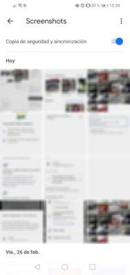 activar copia de seguridad google fotos por carpetas