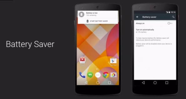 ahorro de batería android 5.0