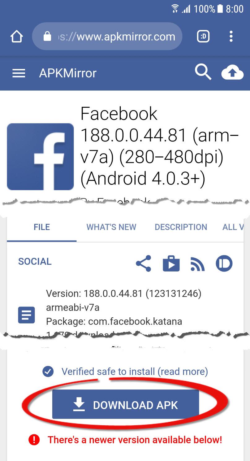 apk mirror facebook