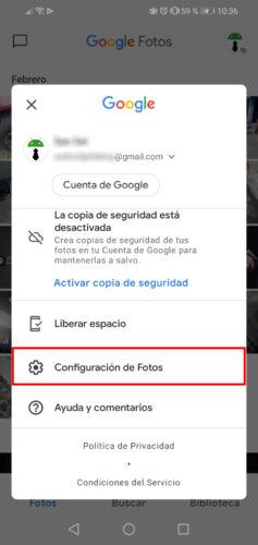 configuracion de fotos google 2