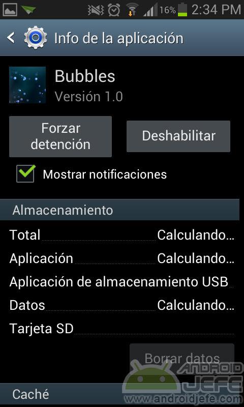 deshabilitar aplicacion android sin instalar apps