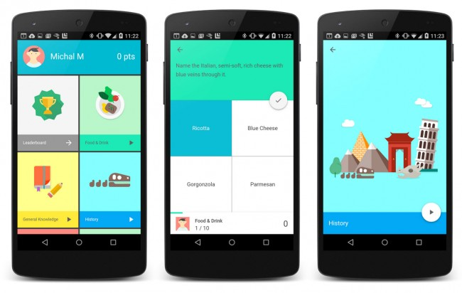 ejemplo de material design colores android 5.0