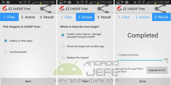 ez unexif quitar exif fotos android