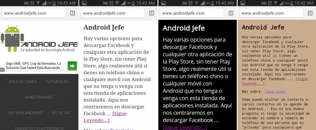 modo lectura chrome android jefe