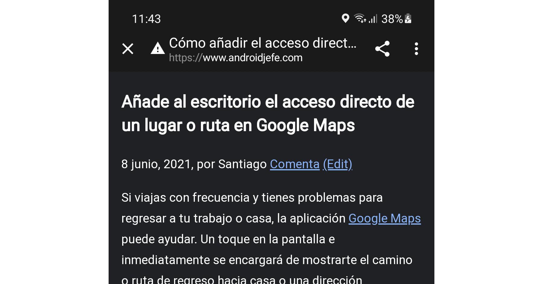 Cómo activar el «modo lectura» en Google Chrome para Android