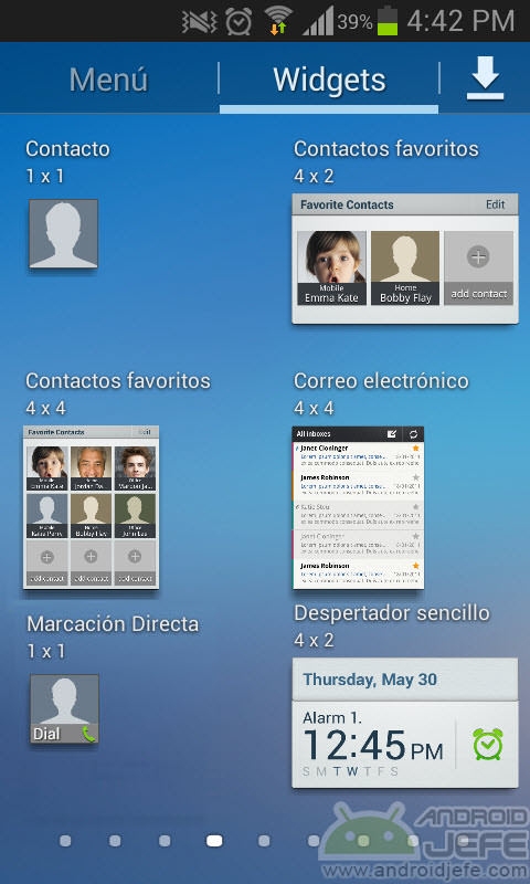 widgets samsung touchwiz launcher