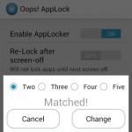 Usa los botones de volumen para bloquear y desbloquear aplicaciones