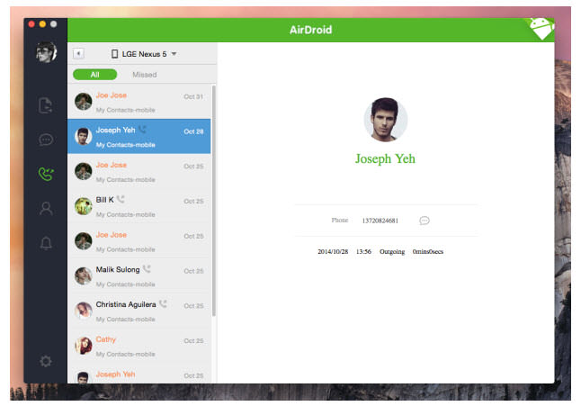 airdroid 3 captura 1 pc