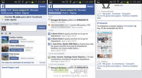 aplicacion facebook para android minimal news