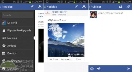 aplicaicon android facebook flipster