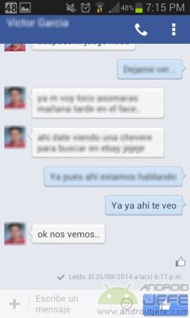 chat en la misma app facebook desinstalar messenger