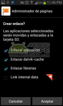 crear enlace con link2sd aplicacion dalvik cache librerias 2
