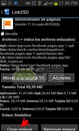 crear enlace link2sd aplicacion android 2