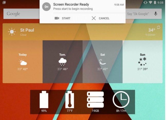 empezar a grabar pantalla lollipop 5.0