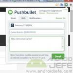 Envia mensajes de texto desde Google Chrome o Firefox con Pushbullet