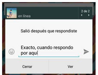 evitar doble check azul notificacion emergente whatsapp