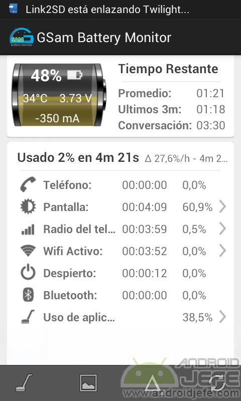 La mejor APP para ver el uso detallado de batería en Android