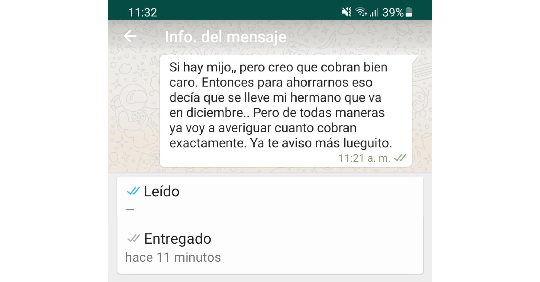 Los mensajes entregados en WhatsApp (palomitas grises) significan que aún NO se han visto?