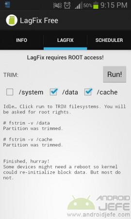 lagfix proceso finalizado correctamente