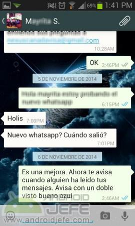 mensaje leído whatsapp android