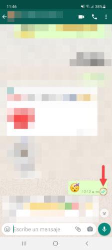 mensaje visto en whatsapp