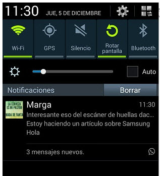 no doble tick azul whatsapp barra notificaciones