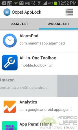 oops app locker listado aplicaciones