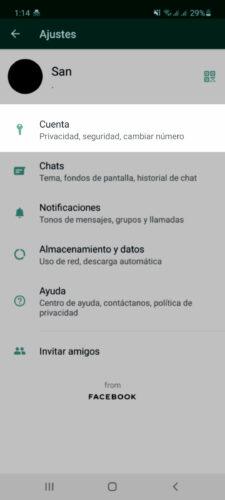 quitar palomitas azules whatsapp paso 1