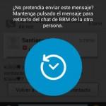 Cómo borrar, eliminar o cancelar un mensaje YA enviado en BBM
