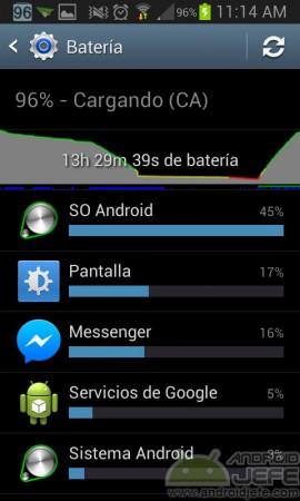saber que aplicaciones consumen mas bateria monitor nativo android