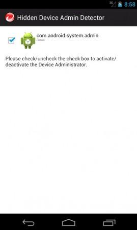 administrador de dispositivo oculto