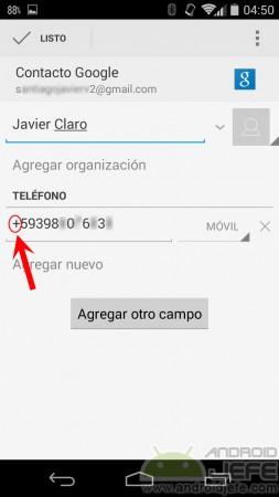 agregar contacto whatsapp si no aparece
